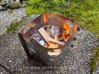 Picogrill mit Holz befeuert